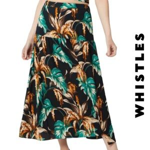Whistles NWT Tropical Floral Samira Skirt, Size 12